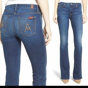 7 For All Mankind Women Jean Short Inseam A Pocket